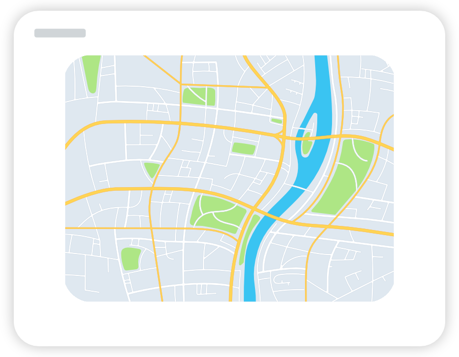 Stylized location map in zweikern Analytics.